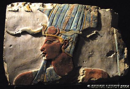 [Photo] Relief peint de Thoutmosis III