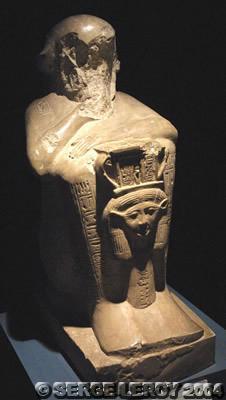[Photo] Statues d'Ameneminet mendiant et d'Hathor