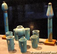 [Photo] Vaisselle de faïence du roi Montouhotep II