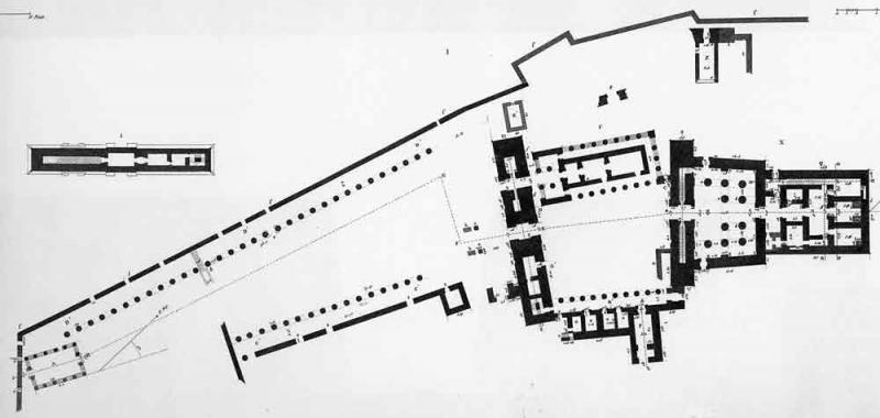 Plan du temple de Philae