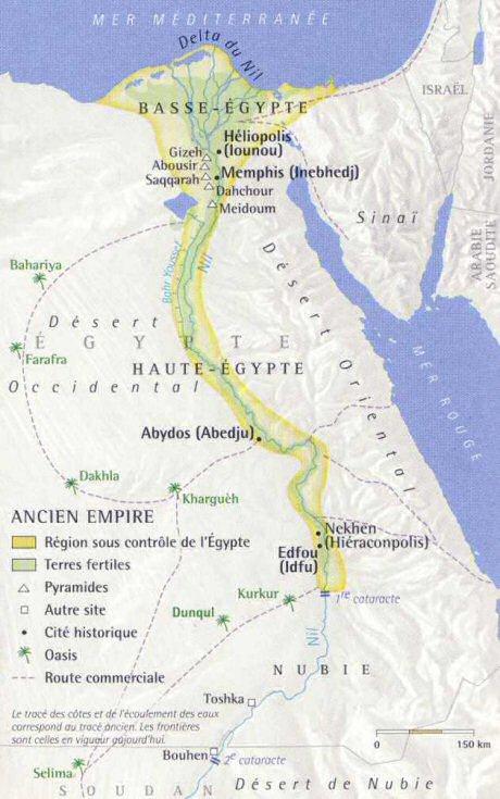 lancien empire carte de legypte antique ancienne